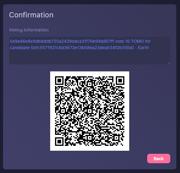 VoteConfirmation